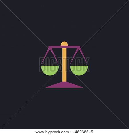 Mechanical scales Color vector icon on dark background