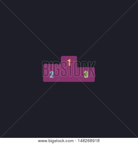 Pedestal Color vector icon on dark background