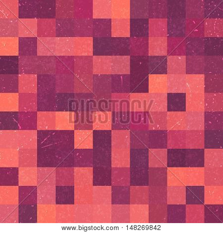 Seamless Geometric Checked Pattern. Ideal For Printing Onto Fabric And Paper Or Decoration. Pink Col