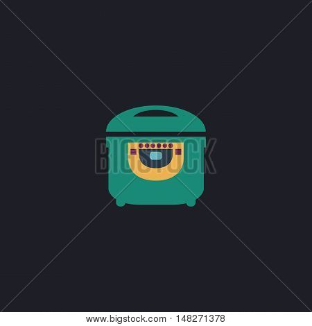electric pan Color vector icon on dark background