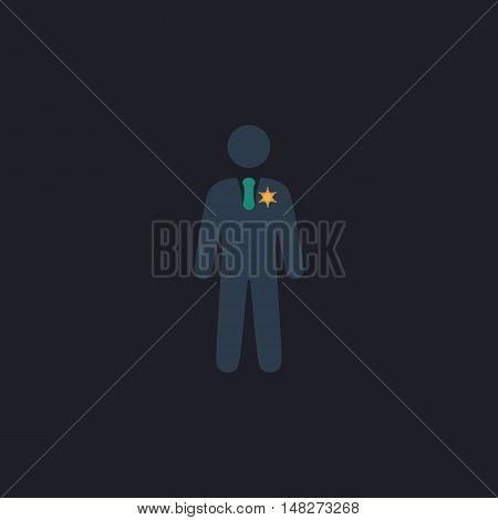 ranger Color vector icon on dark background