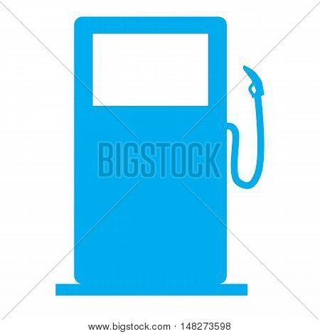Gas Station pump sign Illustration on white background