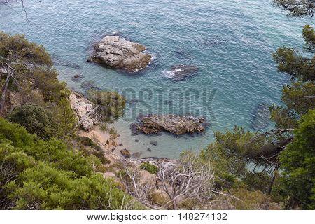 an idyllic Place at the Costa Brava near lloret de Mar, Spain