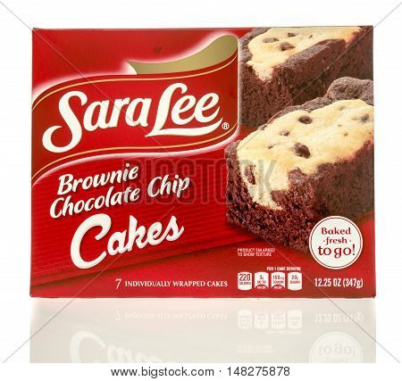 Winneconne WI - 29 July 2016: Box of Sara Lee brownie chocolate chip on an isolated background.