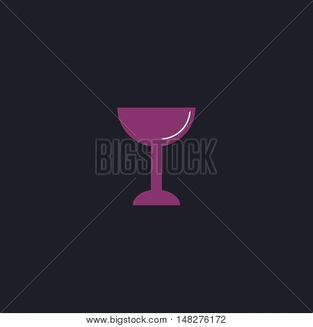 chalice Color vector icon on dark background