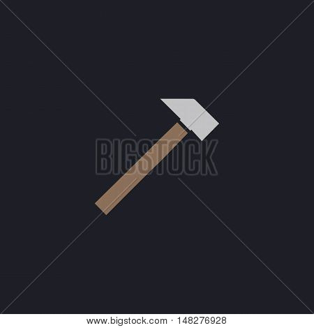 sledgehammer Color vector icon on dark background