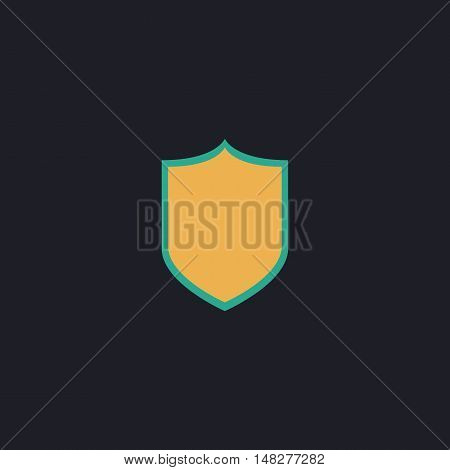 Shield Color vector icon on dark background