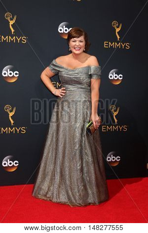 LOS ANGELES - SEP 18:  Mary Hollis Inboden at the 2016 Primetime Emmy Awards - Arrivals at the Microsoft Theater on September 18, 2016 in Los Angeles, CA