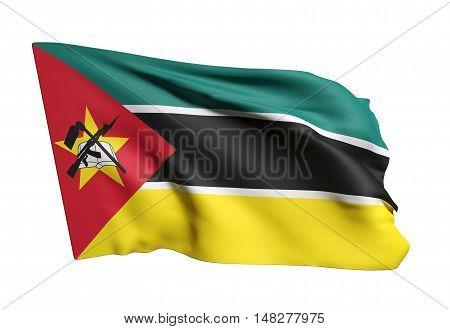 Republic Of Mozambique Flag Waving
