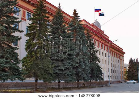 Tyumen, Russia - April 11, 2010: Building of the Tyumen regional duma