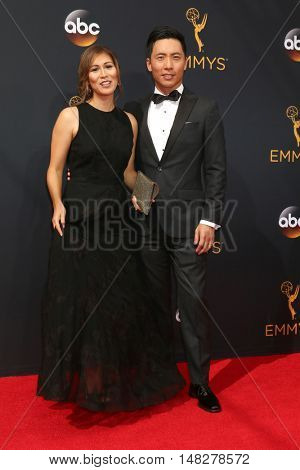LOS ANGELES - SEP 18:  Nuna Kiyar. Kelvin Yu at the 2016 Primetime Emmy Awards - Arrivals at the Microsoft Theater on September 18, 2016 in Los Angeles, CA
