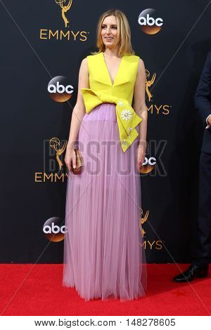 LOS ANGELES - SEP 18:  Laura Carmichael at the 2016 Primetime Emmy Awards - Arrivals at the Microsoft Theater on September 18, 2016 in Los Angeles, CA