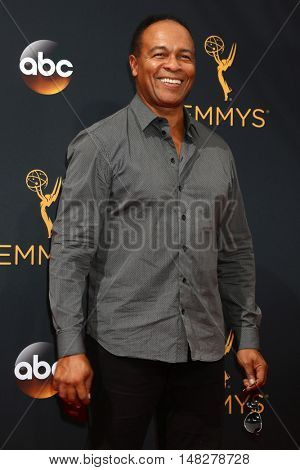 LOS ANGELES - SEP 18:  Ray Parker Jr at the 2016 Primetime Emmy Awards - Arrivals at the Microsoft Theater on September 18, 2016 in Los Angeles, CA