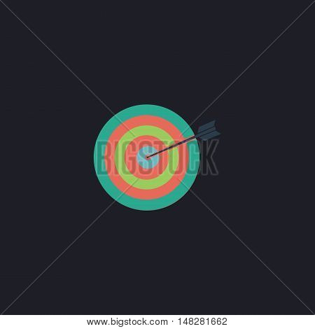 target Color vector icon on dark background