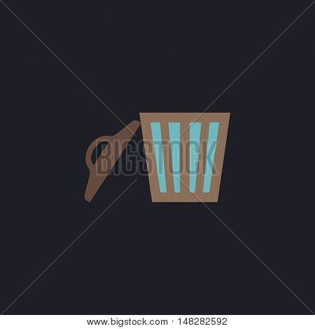 trash Color vector icon on dark background