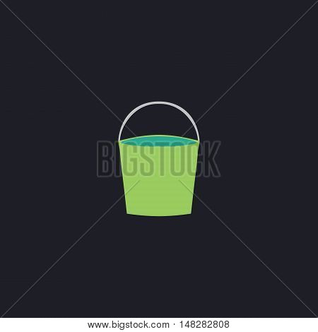 bucket Color vector icon on dark background