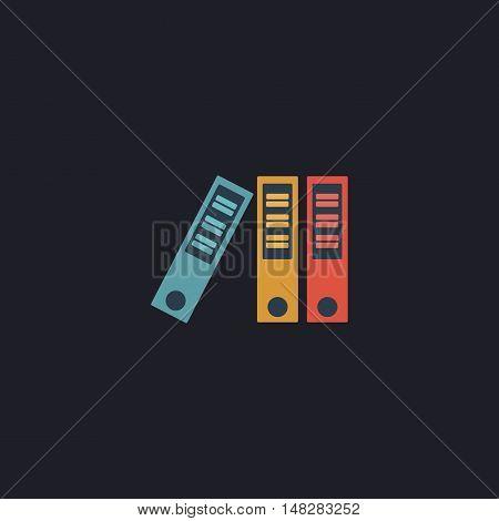 binders Color vector icon on dark background
