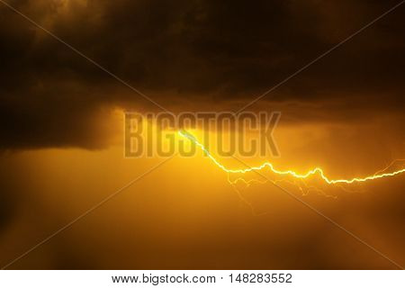 Lightning With Dramatic Clouds.