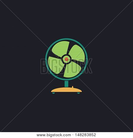 Fan Color vector icon on dark background