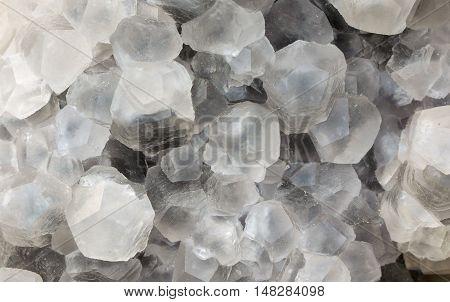 Twin  natural calcite crystal mineral sample, a rare earth minera