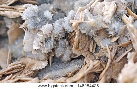 Natural crystal, Small cluster quartz close up