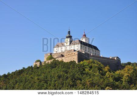Castle Forchtenstein on hill in Austria's Burgenland