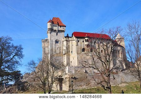 Liechtenstein castle fort burg in Lower Austria