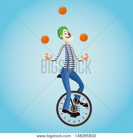 Clown cartoon icon. Circus carnival and festival theme. Colorful  design. Vector illustration