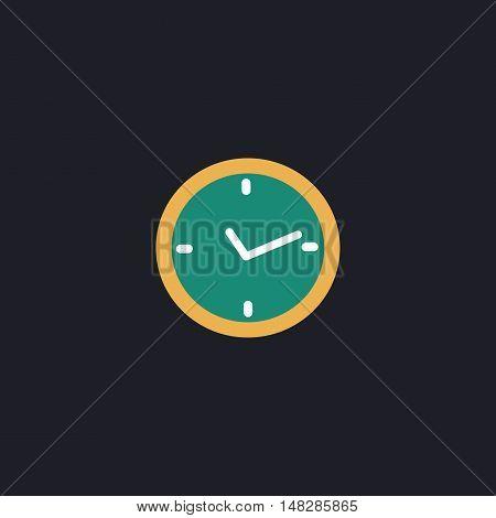 watch icon Color vector icon on dark background