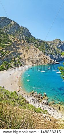 Coll Baix, Famous Bay / Beach In The North Of Majorca