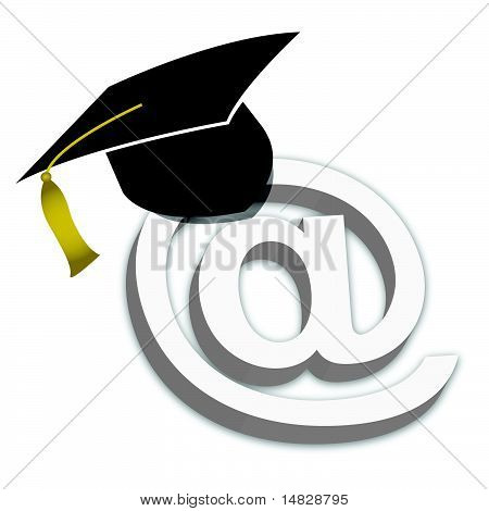 Online Education Degrees Grad Hat