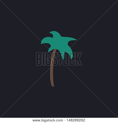 Palm Color vector icon on dark background
