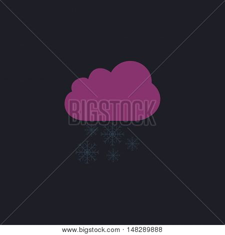 snowfall Color vector icon on dark background