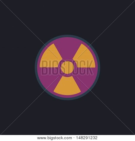 Radiation Color vector icon on dark background