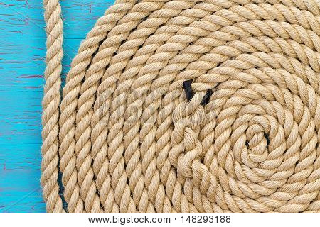 Thick Rope In Wound Up In Spiral Shape
