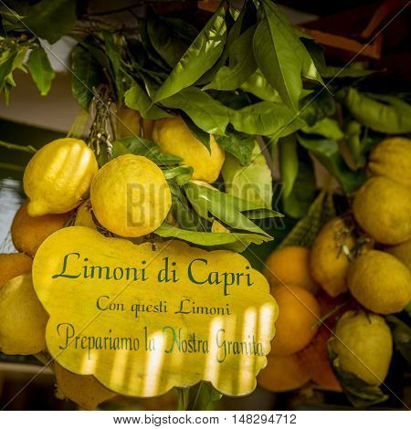 Lemons with text