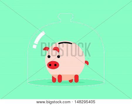 Protect Saving Piggybank Insurance
