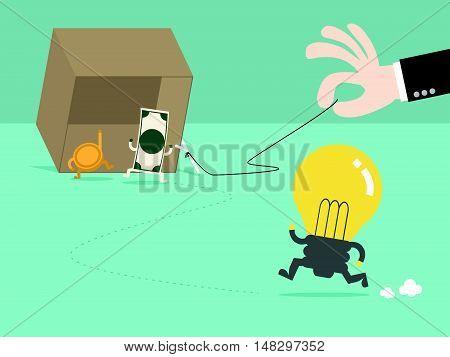 Money Trap The Idea By Businessman