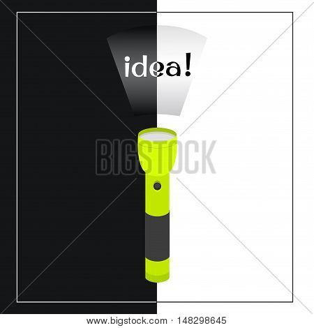 lime portable flashlight with the words