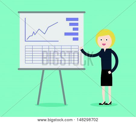 Concept Of Business Woman Presentation