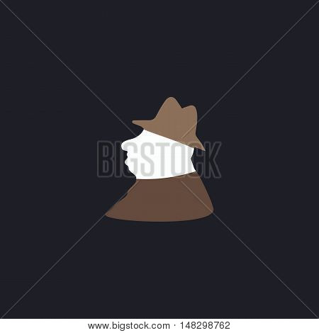 Boss Color vector icon on dark background
