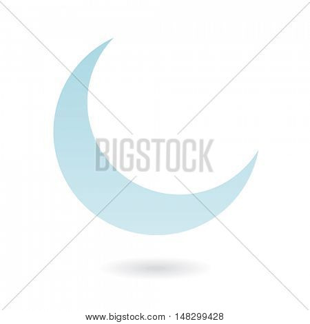 Blue moon isolated on white