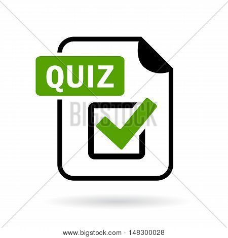 Green quiz icon vector illustration isolated on white background