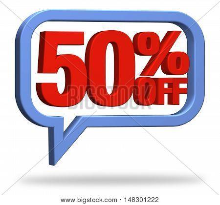 3D rendering 50% discount deduction rebate percentage
