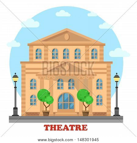 Grand theatre or theatre. Building for entertainment, structure and construction for art and play premiere, opera. Great for landmark and culture leisure, performance theme