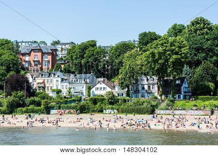 View Of The Treppenviertel District And The Elbe River In Hamburg