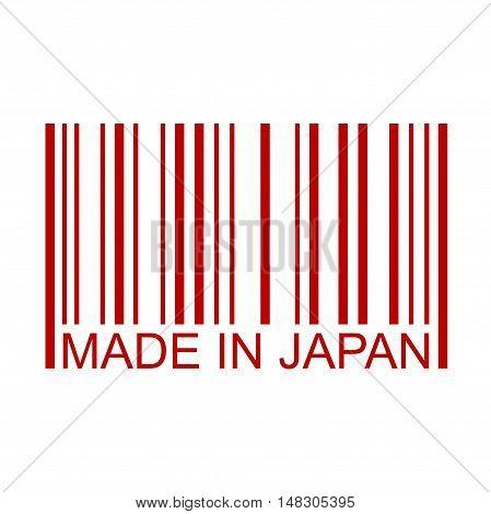 Made In Japan Full Bar Code Minimal Text