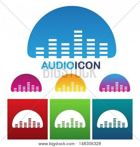 illustration of colorful audio equalizer icon