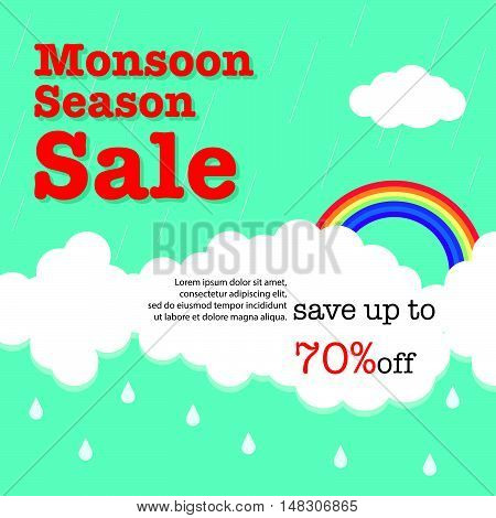 Monsoon Season Sale Background