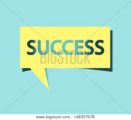 Square Speech Bubble With Success Text